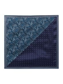 New & Lingwood Ilkley floral & polka dot silk pocket square