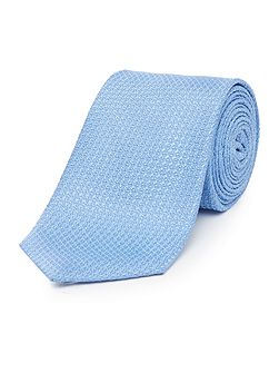 Palmino textured plain Italian silk tie