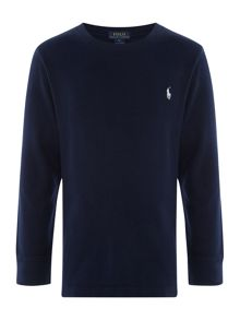 Polo Ralph Lauren Boys Crew Neck Long Sleeve T-shirt with Pony Logo