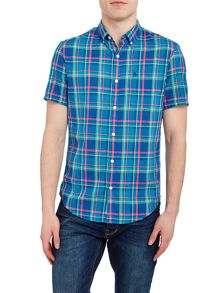 Original Penguin Plaid Cotton Slub Short Sleeve Shirt
