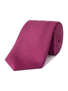 Corsivo Palmino textured plain silk tie