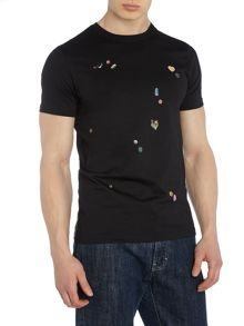 PS By Paul Smith Slim fit pills print crew neck t shirt
