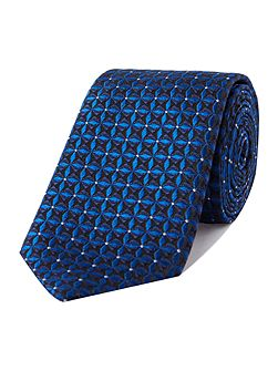 Uberto geo jacquard with polka dot silk tie