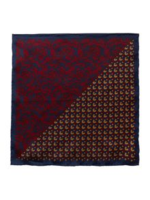Corsivo Davide printed floral pocket square