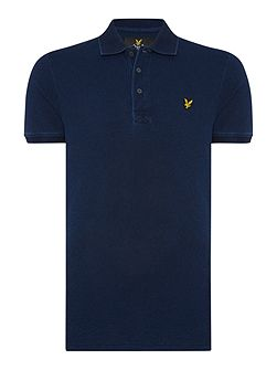 Short Sleeve Polo in Indigo Wash