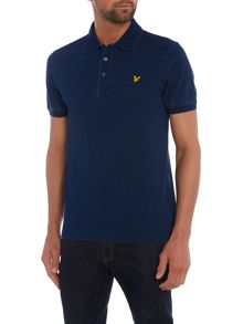 Lyle and Scott Short Sleeve Polo in Indigo Wash