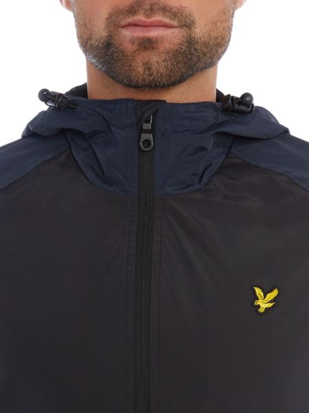 Lyle and Scott Contrast Sleeve Hooded Anorak