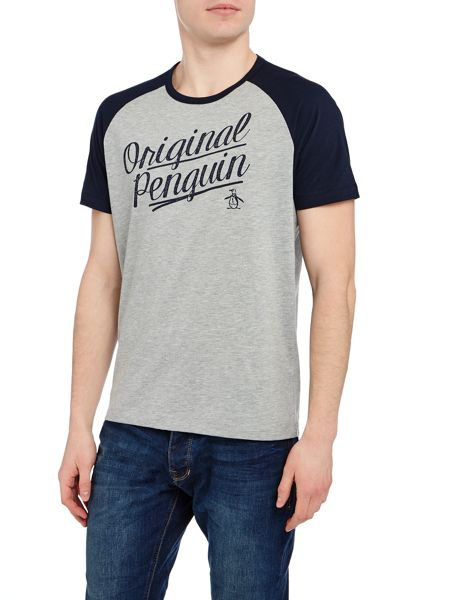 Original Penguin Graphic Raglan Crew Neck Short Sleeve T-shirt