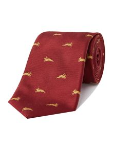 New & Lingwood Madder Hair Jacquard Tie