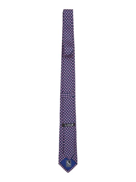 New & Lingwood Scotti Dog Printed Tie