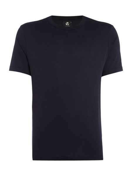 PS By Paul Smith Regular fit shoulder cut & sew stripe t shirt