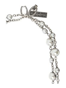 Max Mara Feltro silver ball necklace