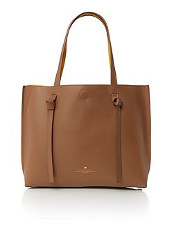 Armanda leather reversible tote bag