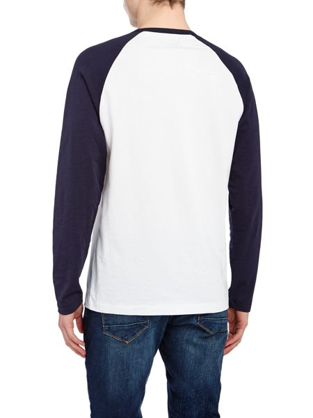 Original Penguin Graphic Baseball Crew Neck Long Sleeve T-shirt