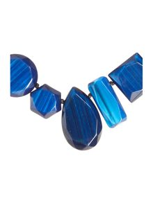 Max Mara Aceri blue stone necklace