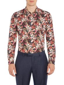 New & Lingwood Nightshade floral print shirt