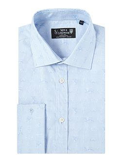 Royal jaquard shirt with cutwaway collar