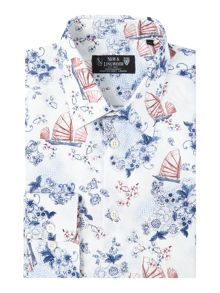 New & Lingwood Shanghai print shirt