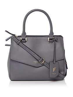 Mia grey medium grab tote bag