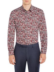 New & Lingwood Leadbury floral paisley shirt print