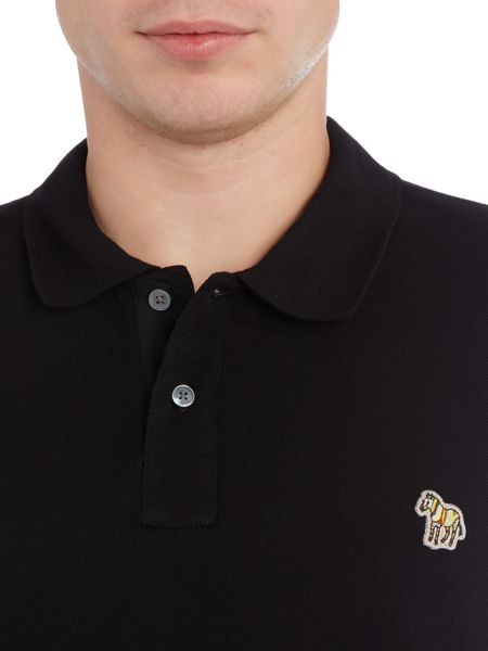 PS By Paul Smith regular fit long sleeve zebra logo polo shirt