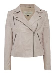 Maison De Nimes Washed Leather Jacket