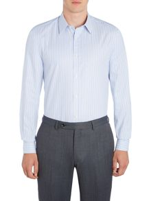 Corsivo Garda italian fabric textured stripe shirt
