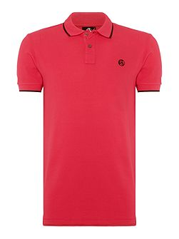 Slim fit PS logo tipped polo shirt