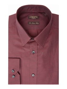 Corsivo Giovanni Italian Fabric textured shirt
