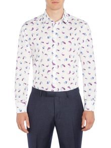 New & Lingwood Longleat waterprint shirt