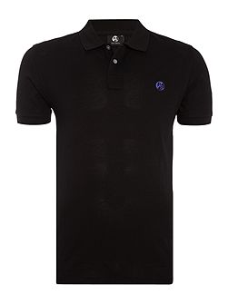 Slim fit contast logo polo shirt