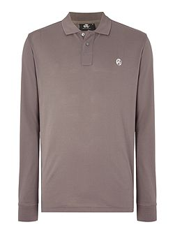 Regular fit long sleeve contrast PS logo polo