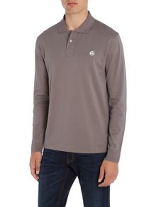 PS By Paul Smith Regular fit long sleeve contrast PS logo polo