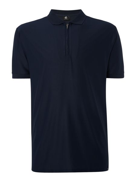 PS By Paul Smith Regular fit zip collar mesh polo shirt