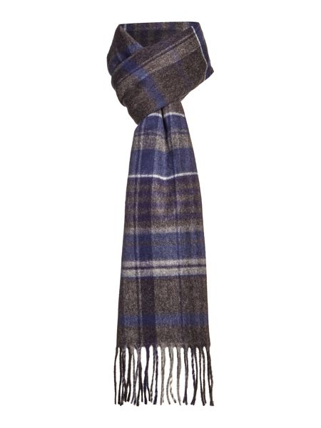 Linea Blue Check Scarf