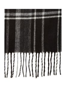 Linea Grey Check Scarf