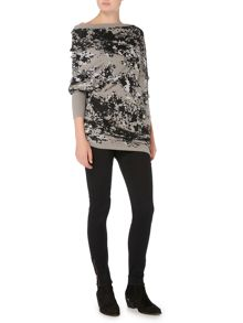 Label Lab Asymmetric intarsia jumper