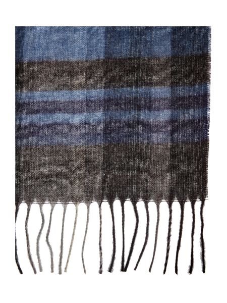 Linea Lightweight Blue Check Scarf