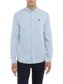 Lyle and Scott Long Sleeve Garment Dye Shirt