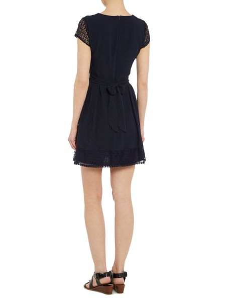 Wal-G Cap Sleeve Fit And Flare Dress