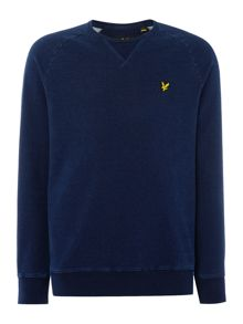 Lyle and Scott Crew Neck Indgo Was Sweatshirt