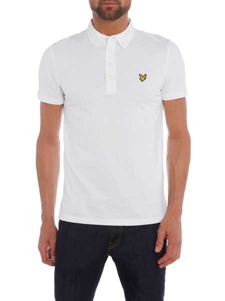 Lyle and Scott Short Sleeve Woven Collar Polo Shirt