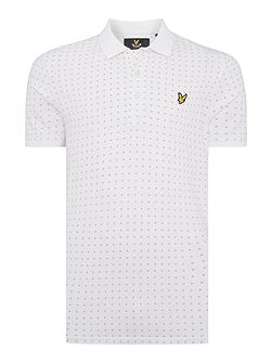 Square Dot Short Sleeve Polo Shirt