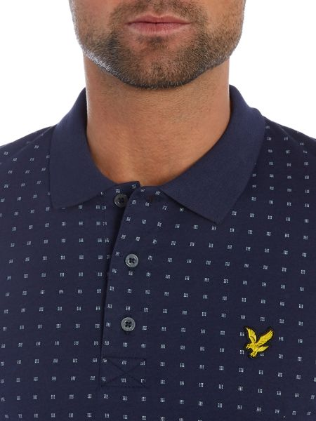 Lyle and Scott Square Dot Short Sleeve Polo Shirt