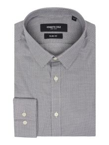 Kenneth Cole Raye slim fit tonal check shirt