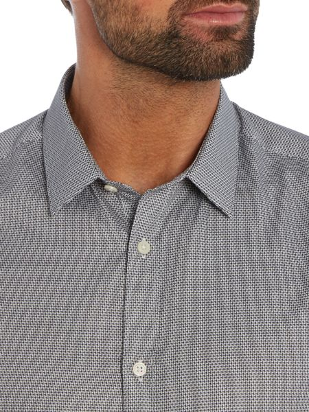 Kenneth Cole Raye slim fit tonal textured  shirt