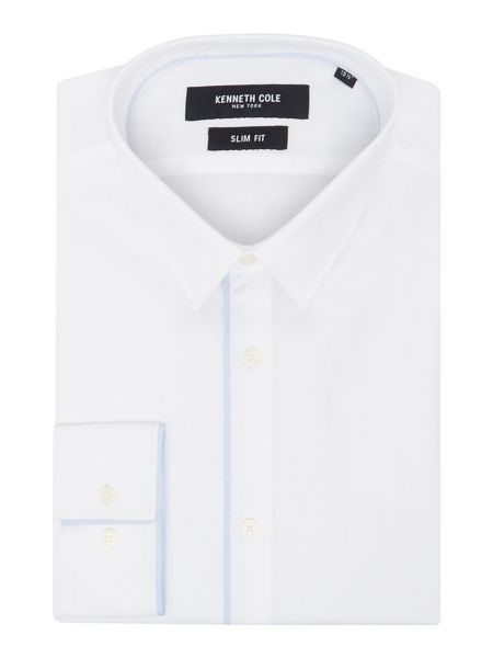 Kenneth Cole Greene slim fit piped shirt