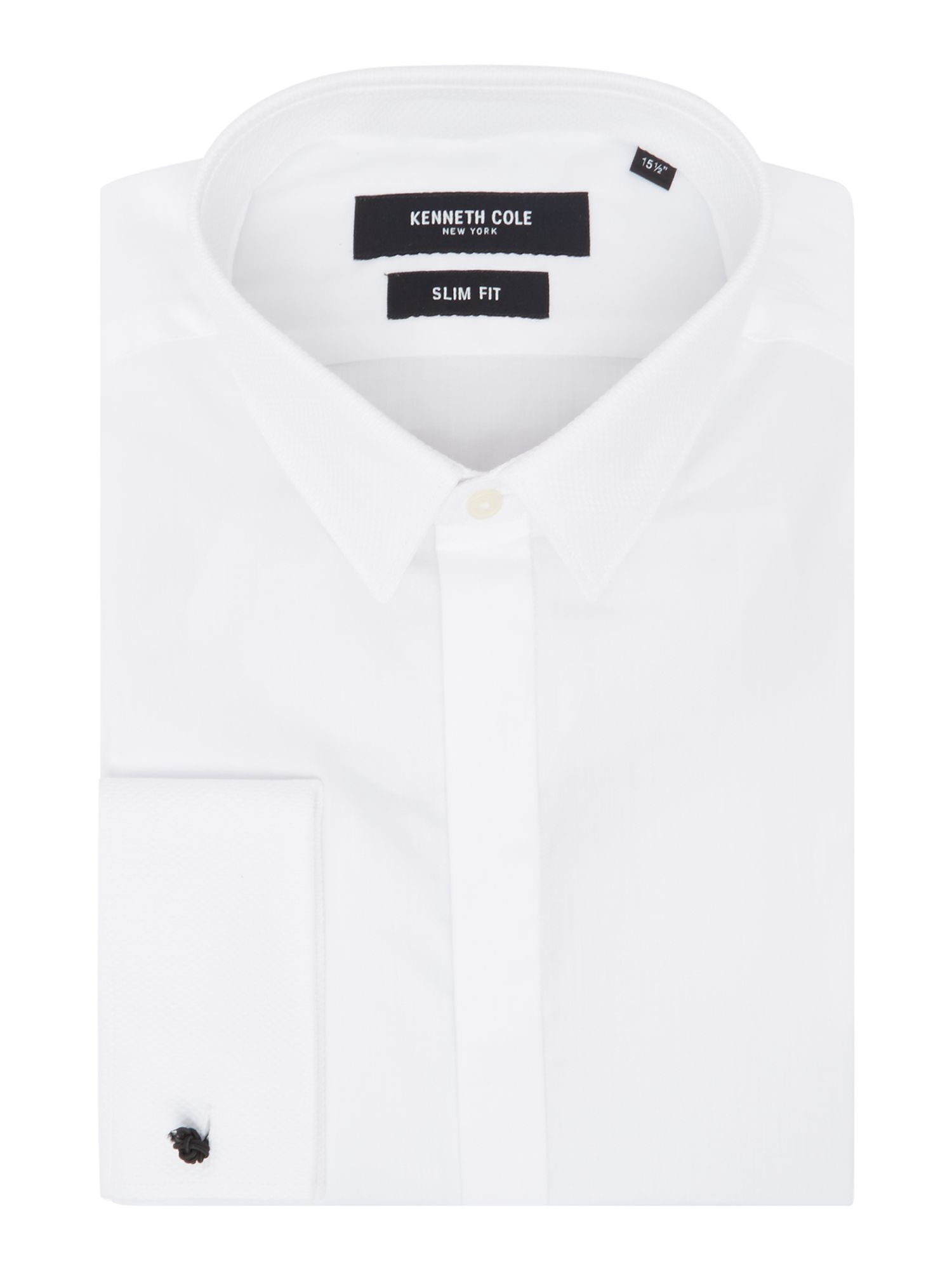 Mens Kenneth Cole Gala slim fit evening shirt with marcella collar White