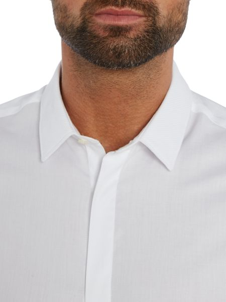 Kenneth Cole Gala slim fit evening shirt with marcella collar