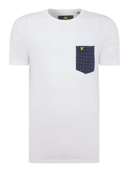 Lyle and Scott Square Dot Crew Neck T-Shirt with Pocket